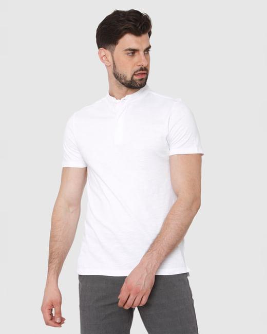White Henley T-Shirt
