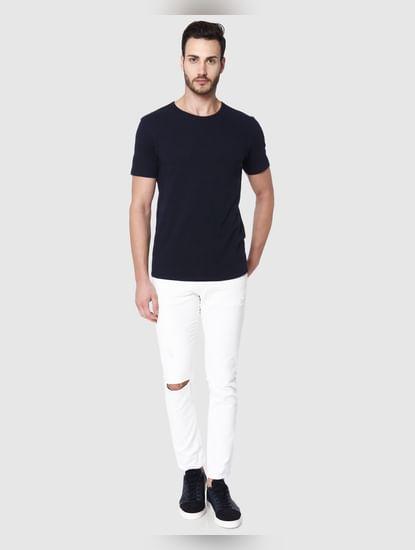 Blue Crew Neck T-Shirt