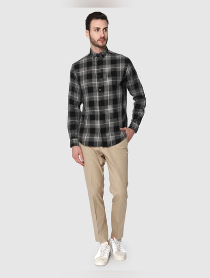 Black Check Full Sleeves Shirt