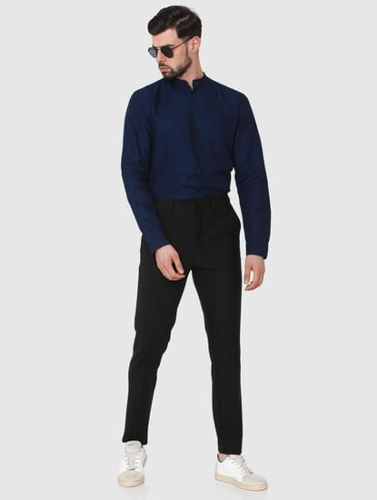 Black Tapered Fit Pants