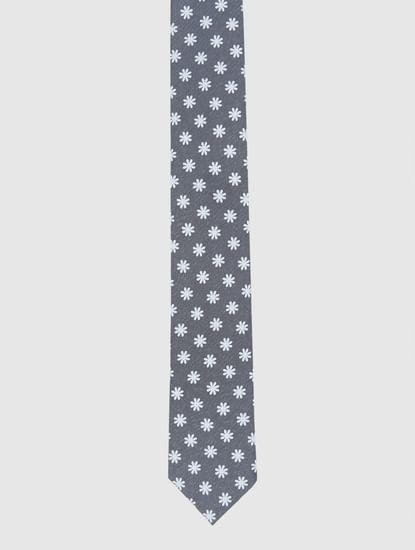 Grey Printed Tie