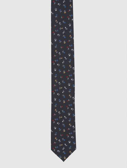 Black Printed Tie
