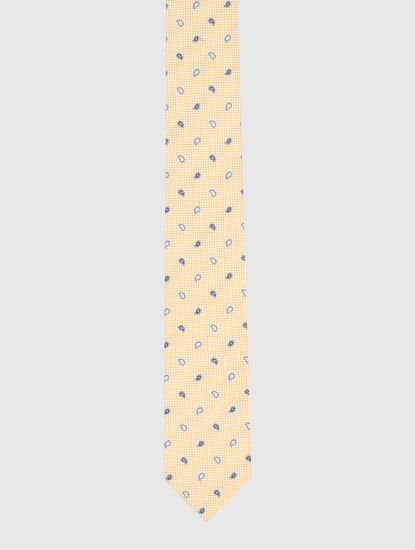 Yellow Printed Tie