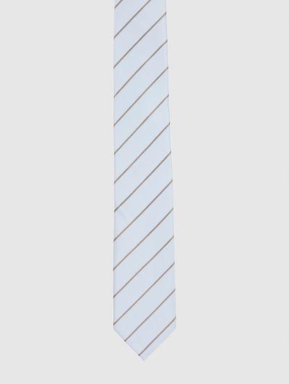 Light Blue Striped Tie