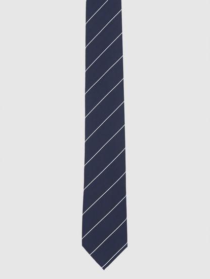 Navy Blue Striped Tie