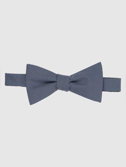 Dark Navy Printed Bow Tie