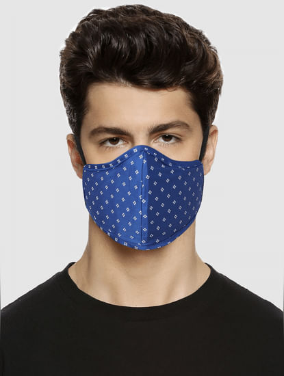 Blue Floral Print N95 Mask with 3 Changeable PM2.5 Filter