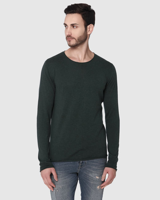 Green Crew Neck Pullover