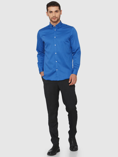 Blue Slim Fit Formal Shirt
