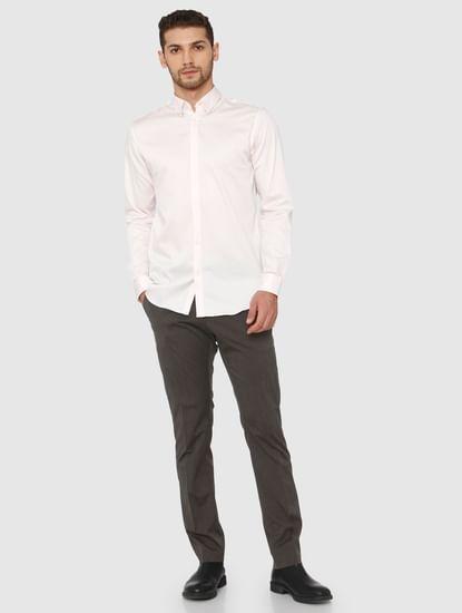 Light Pink Slim Fit Formal Shirt