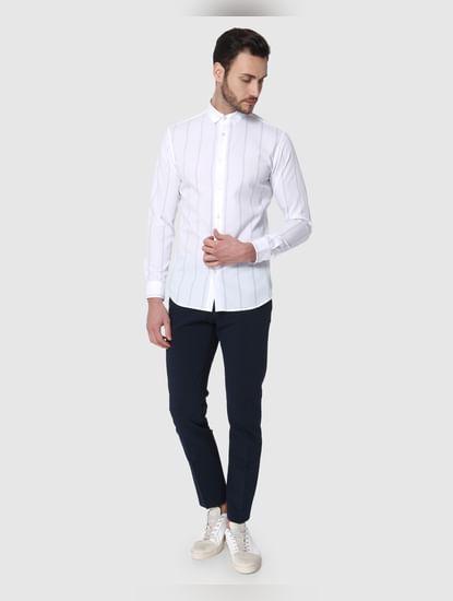 White Striped Formal Shirt