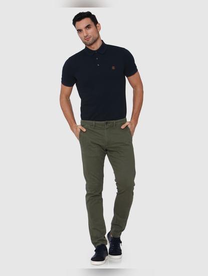 Green Slim Fit Pants