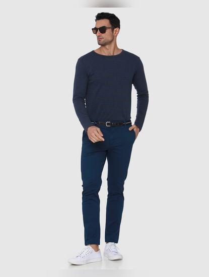 Blue Regular Fit Pants