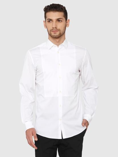 White Slim Fit Formal Shirt