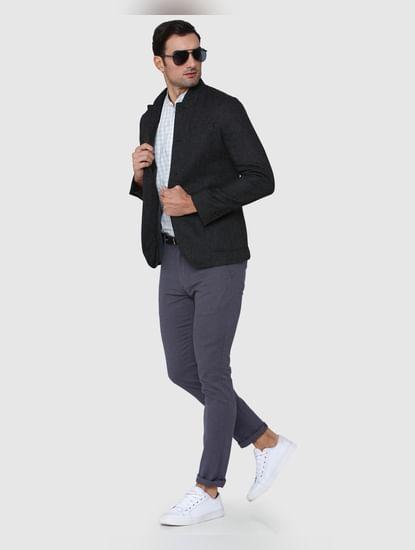 Dark Grey Slim Fit Blazer