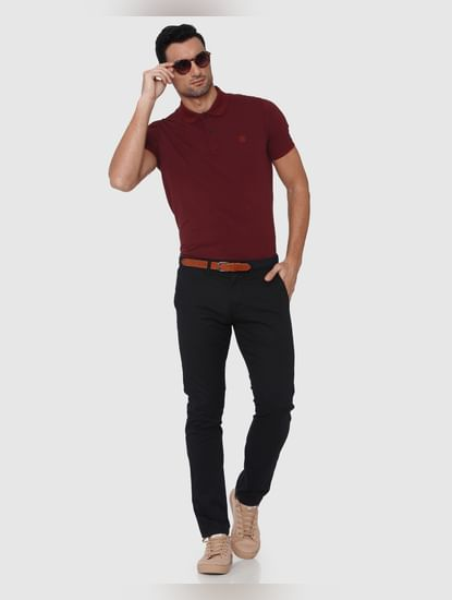 Black Slim Fit Chinos
