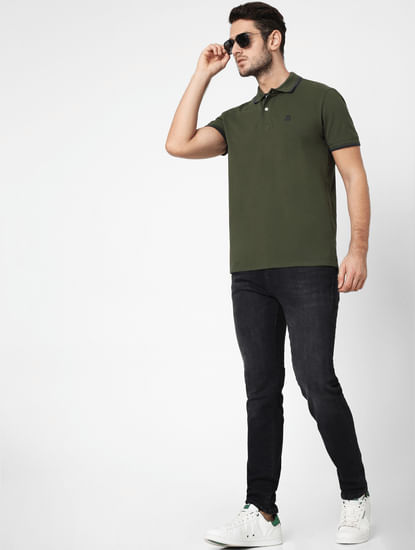 Olive Polo Neck T-shirt