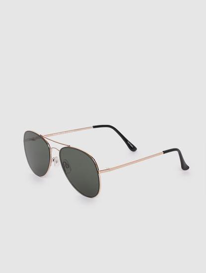 Green Oval Sunglasses