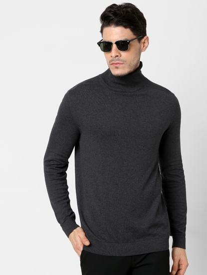Dark Grey Roll Neck Pullover