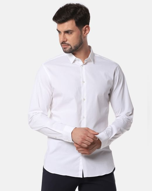 White Formal Full Sleeves Shirt
