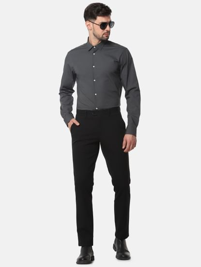 Dark Grey Formal Full Sleeves Shirt