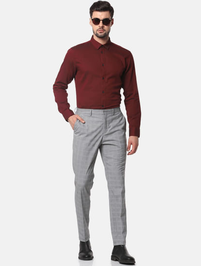 Red Formal Full Sleeves Shirt