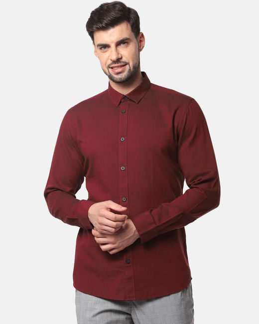 Red Formal Full Sleeves Shirt