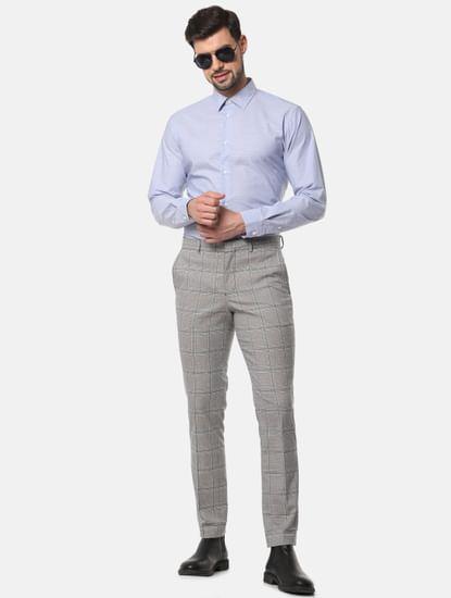 Blue Printed Full Sleeves Shirt