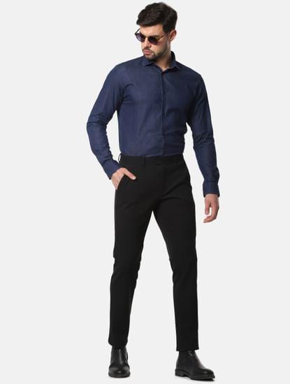 Dark Blue Denim Full Sleeves Shirt