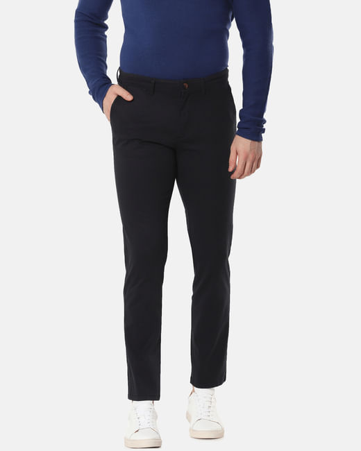 Black Mid Rise Slim Fit Chinos