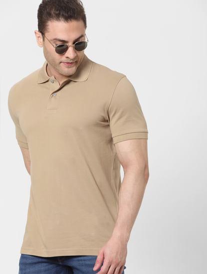 Beige Polo T-shirt