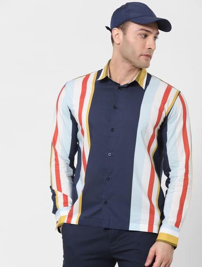 Multi-Coloured Colourblocked Full Sleeves Shirt