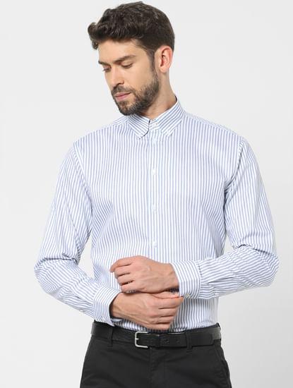 Blue Striped Organic Cotton Shirt