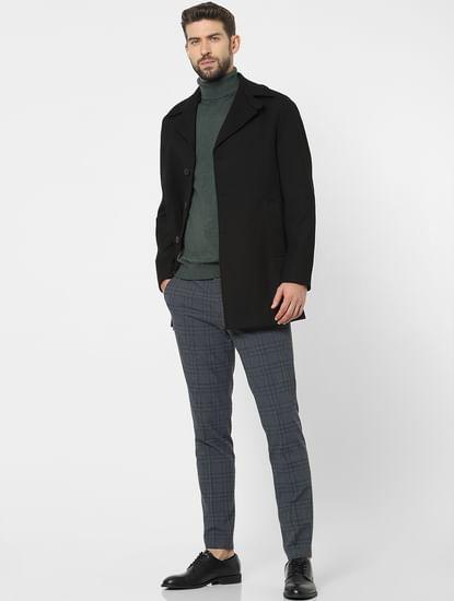 Black Solid Coat
