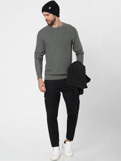 Dark Grey Organic Cotton Pullover