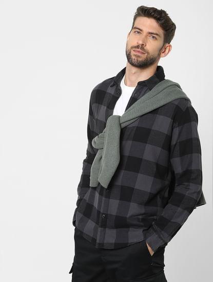 Black Check Organic Cotton Full Sleeves Shirt