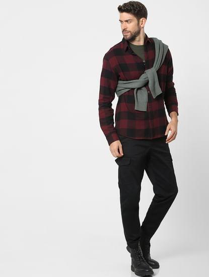 Red Check Organic Cotton Full Sleeves Shirt