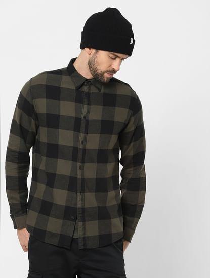 Green Check Organic Cotton Full Sleeves Shirt