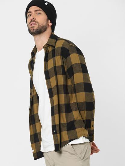 Yellow Check Organic Cotton Full Sleeves Shirt