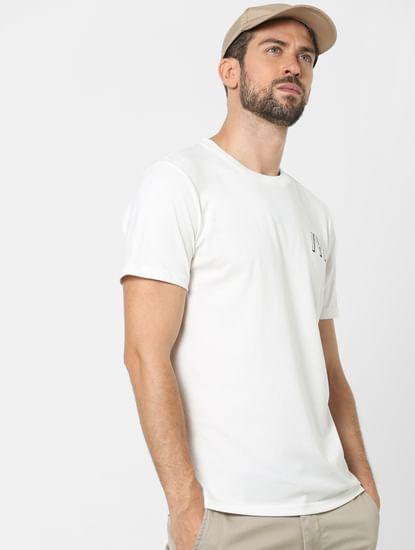 White Organic Cotton Crew Neck T-shirt