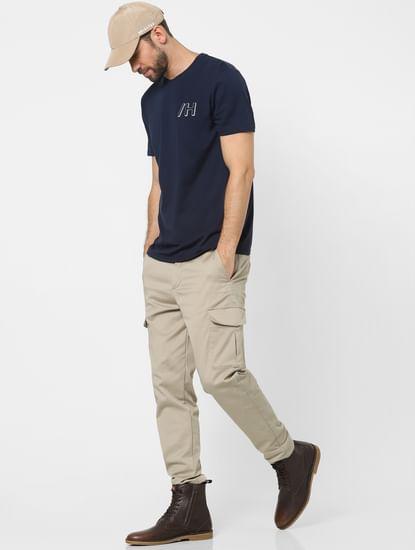 Blue Organic Cotton Crew Neck T-shirt