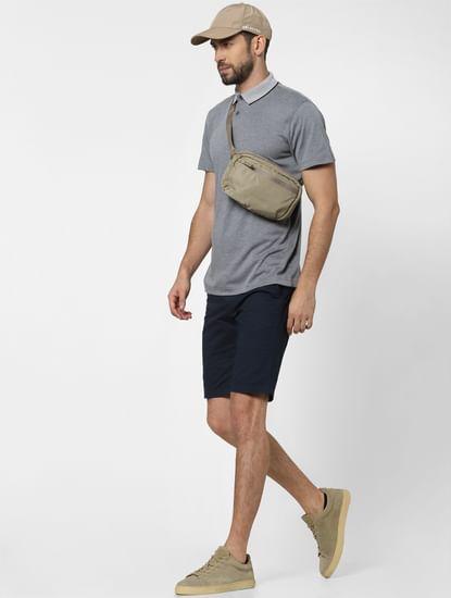 Navy Blue Organic Cotton Chino Shorts