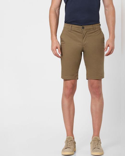 Brown Organic Cotton Chino Shorts