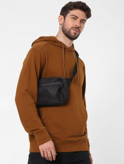 Brown Organic Cotton Hooded Sweatshirt