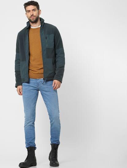 Blue Mid Rise Organic Cotton Leon Slim Fit Jeans