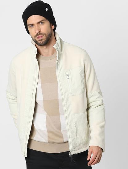 Beige Check Organic Cotton Pullover