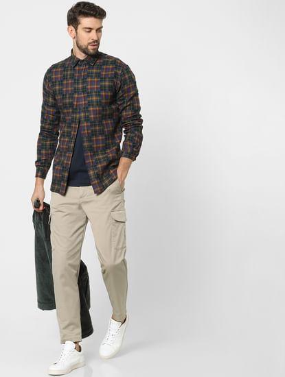 Multi-Coloured Check Organic Cotton Full Sleeves Shirt