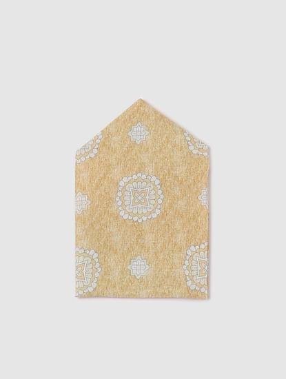 Brown Linen Pocket Square