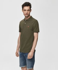 Olive Green Slim Fit Polo T-Shirt