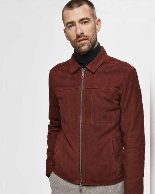 Rust Suede Jacket